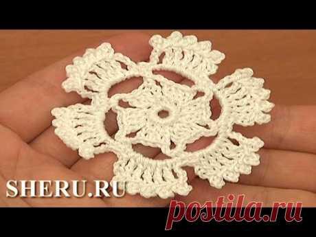 How To Crochet Motif Урок 2  Как вязать мотив