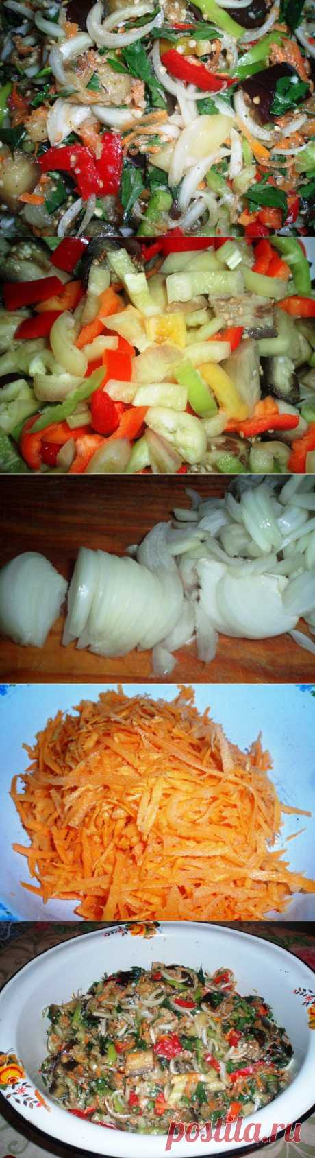 Закуска острая с баклажанами | Домашняя еда
