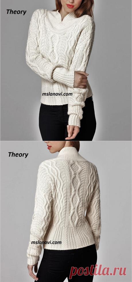 Романтичный свитер | Вяжем с Лана Ви