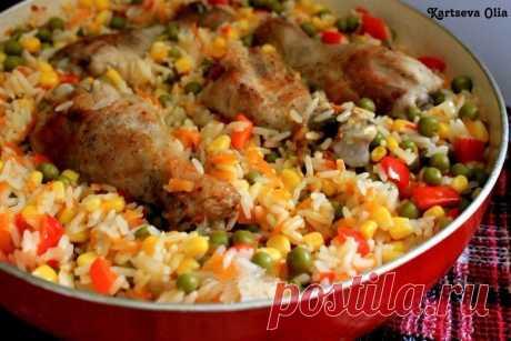 Как приготовить курица с рисом и овощами по-каталонски - рецепт, ингредиенты и фотографии