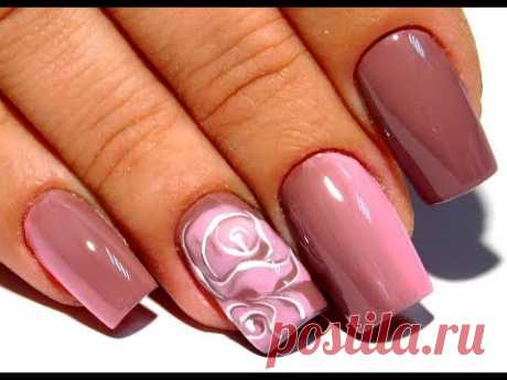 The design of nails gel is delicious on wet a flower. Try repeat this idle time and fashionable manicure of 2017