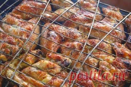 Летнее меню: куриные крылья на мангале / Простые рецепты