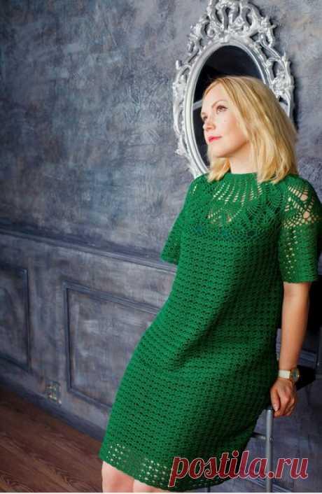 Какие вязаные платья крючком будут модны в 2019 году | Вязание крючком с Ириной Булановой | Яндекс Дзен