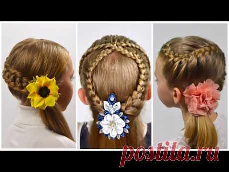 3 Красивые прически с плетением на КАЖДЫЙ ДЕНЬ для длинных волос | Прически в школу | LittleGirlHair