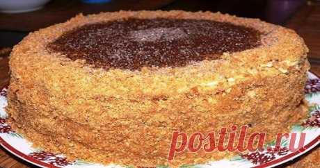 Торт «Рыжик» со сливочным кремом. Просто объедение! - Кулинарный Гуру Ингредиенты: 1 стакан сахара 2 яйца 2 столовые ложки меда 100 гр...