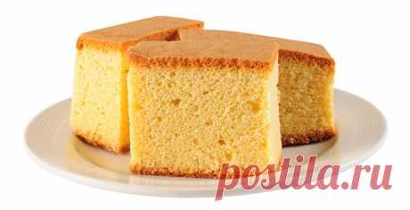 Рецепт бисквита от подруги из домашней пекарни очень пышный!