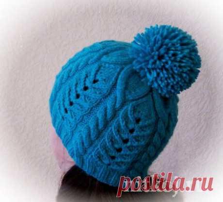 Шапочка спицами Snowflake Hat » Ниткой - вязаные вещи для вашего дома, вязание крючком, вязание спицами, схемы вязания