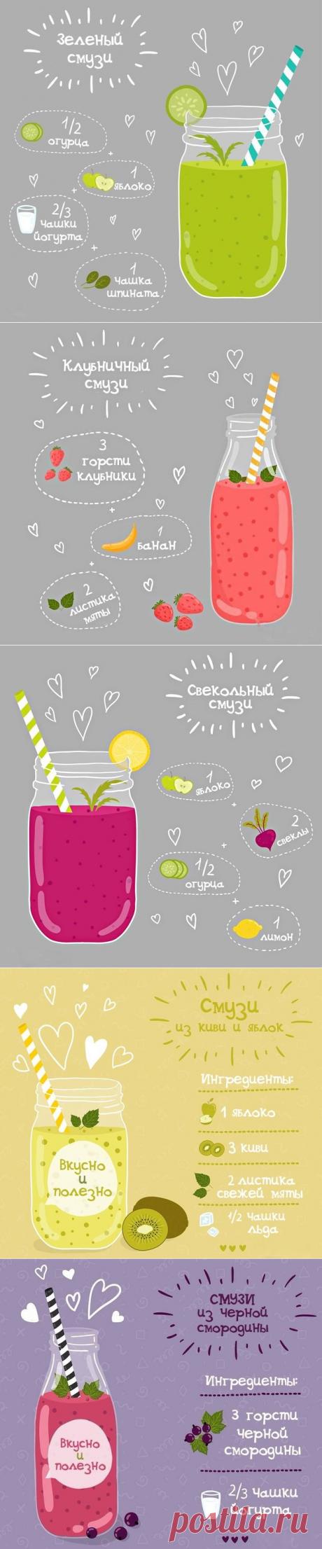 Рецепты отличных летних смузи!