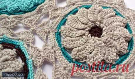Красивое вязание крючком для пледа или салфетки — Делаем руками