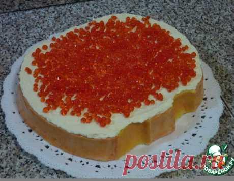 """Торт """"Бутерброд с икрой"""" – кулинарный рецепт"""