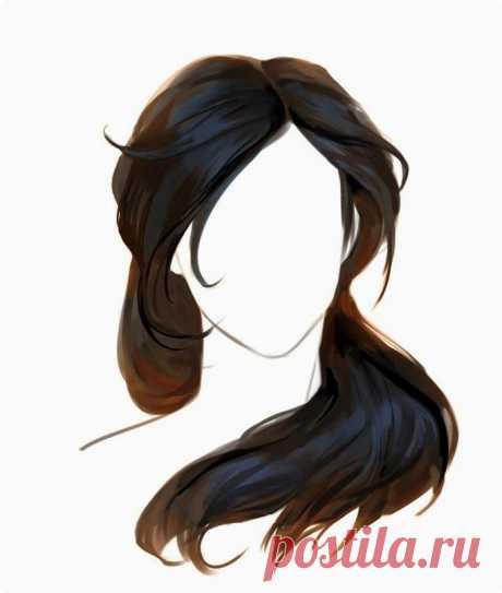 Учимся прорисовывать волосы — Сделай сам, идеи для творчества - DIY Ideas