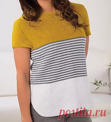 Вязаный свитер из остатков пряжи🧶. Моя подборка 20 полосатиков🔴🟣⚪🟤 с бонусом. | Мама-универсал | Яндекс Дзен.Идеи.