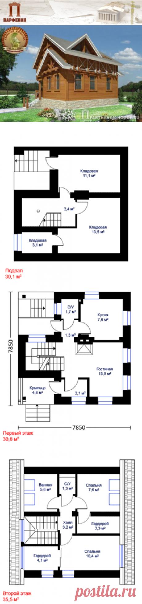 Проект компактного небольшого дома из газобетонных блоков с подвалом ЯП 94-6  Площадь застройки: 57,2 кв.м. Площадь общая: 94,6 кв.м. Площадь жилая: 34,0 кв.м.   Технология и конструкция: газобетонные блоки. Фундаменты: ленточный ж/б монолитный. Наружные стены: газобетонные блоки + утеплитель + фальшбрус. Перекрытие: железобетонные, монолитные. Крыша: деревянная стропильная.. Кровля: битумная черепица. Фасад: фальшбрус.