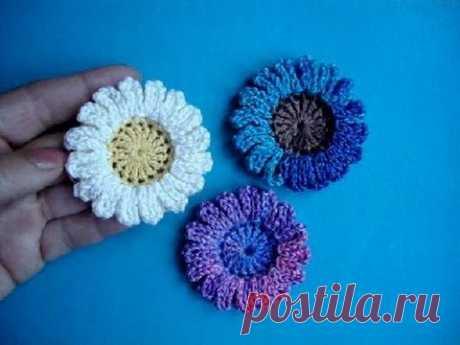 """Las flores tejidas – """"las manzanillas Originales""""."""