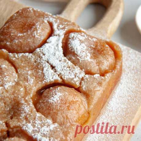 Пирог-перевертыш с персиками - пошаговый рецепт с фото