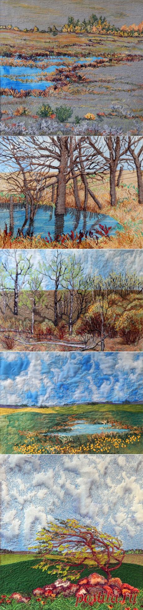 Удивительные лоскутные пейзажи — Сделай сам, идеи для творчества - DIY Ideas