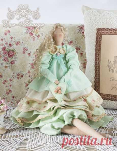 Кукла Тильда в стиле Шебби