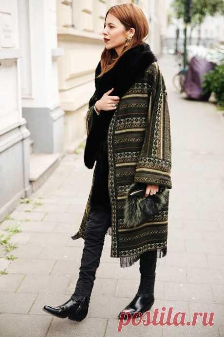 Стильное пальто бохо 2021