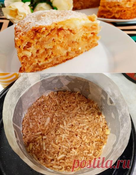 Пирог три стакана со сливками - обязательно попробуйте!