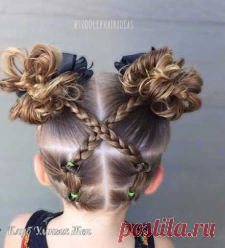 Ideas of charming hairdresses for little ladies!