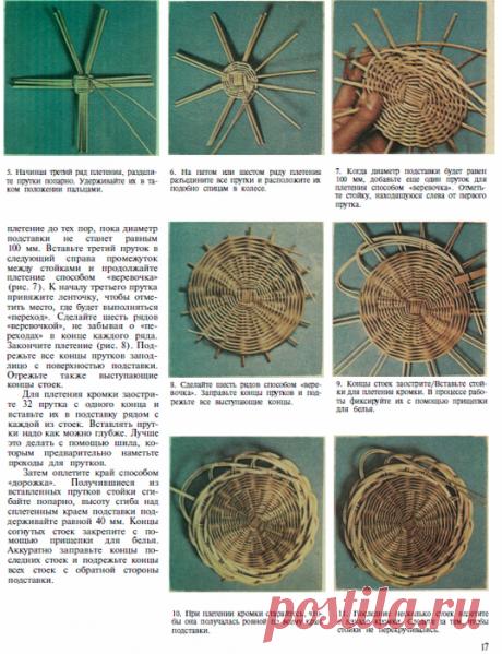 Плетение.  В книге рассказывается об основных приемах работы, о подготовке и обработке материалов для плетения, о необходимых инструментах. Книга хорошо иллюстрирована.