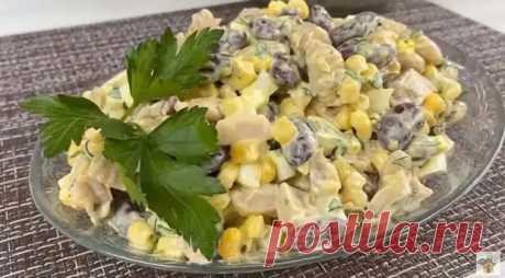 Салат «5 минутка», а все будут просить этот рецепт. Вкусный салат из простых продуктов - Скатерть-Самобранка - медиаплатформа МирТесен