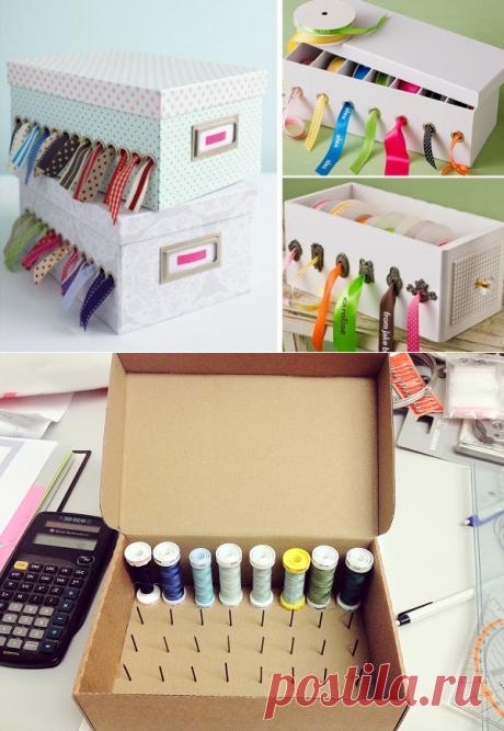 Новая жизнь старой картонной коробки — Сделай сам, идеи для творчества - DIY Ideas