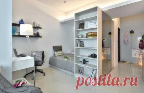 Дизайн квартиры-студии (32 кв.м.) - Дизайн интерьеров | Идеи вашего дома | Lodgers
