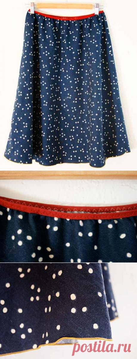 Как быстро сшить летнюю юбку