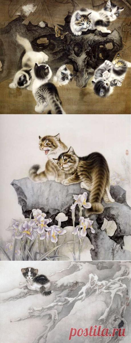 Неповторимые кошки художника Сюй Синьци