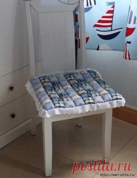 Мягкая сидушка для стула своими руками