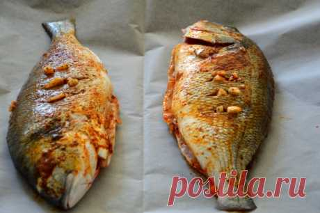 דג דניס שלם בתנור - מתכון פשוט, מהיר ומנצח!!