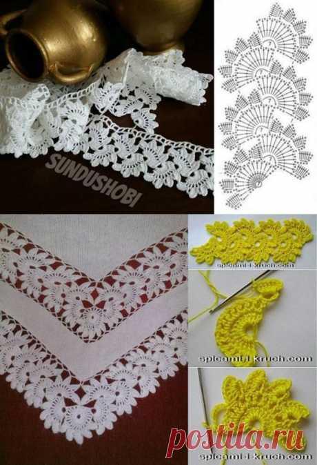 Aprenda como fazer vários modelos de bico de crochê, passo a passo em vídeo e gráficos para pano de prato, toalhas e tapetes.