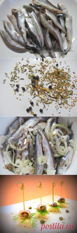 Маринованная мойва — рецепт приготовления