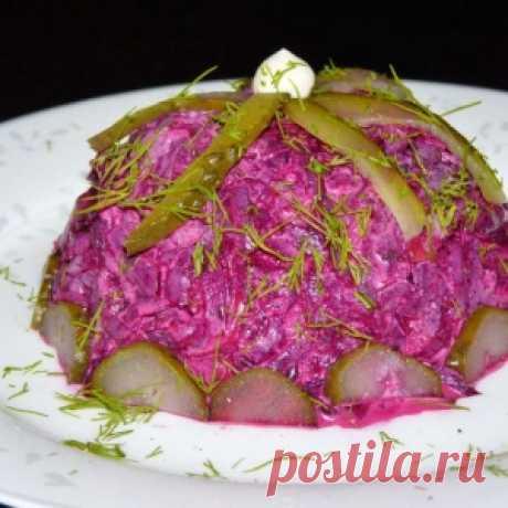 Свекольный салат c чесноком - МирТесен