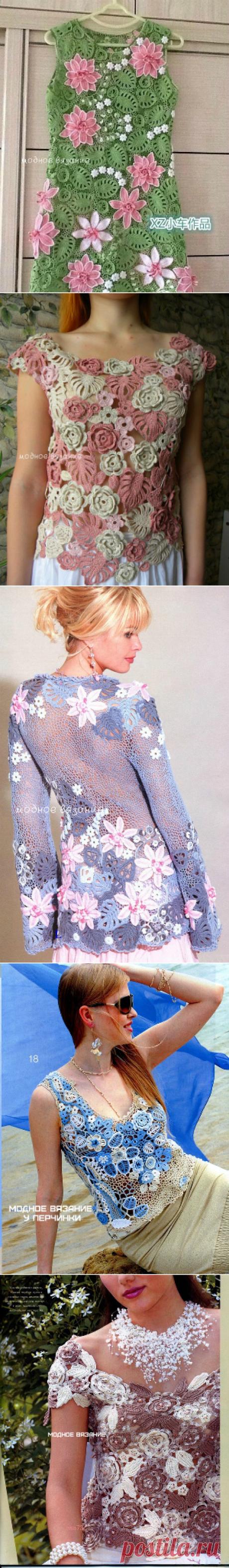 модели ирландского кружева -  Модное вязание
