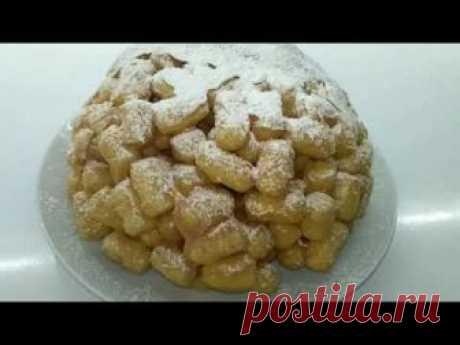 """Торт без выпечки """"А-ля Чак - Чак"""" из кукурузных палочек и ирисок"""