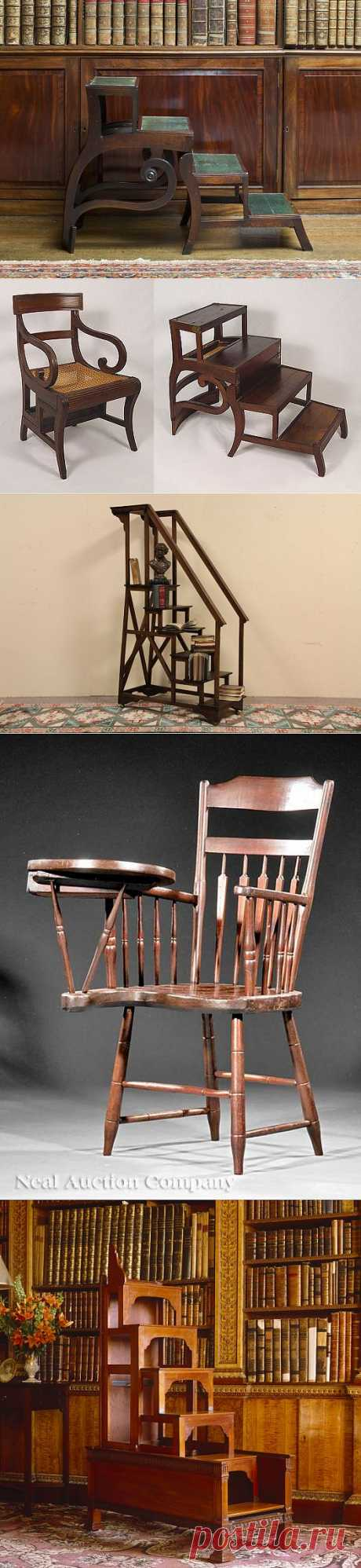 Старинная мебель для библиотек и кабинетов.