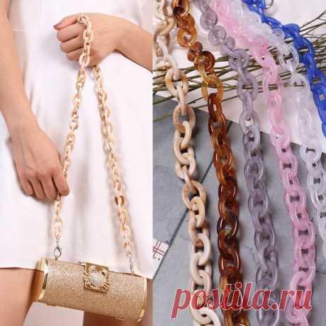 Top 60 см Готовые акриловые цепочки, сумки, сумки, пластиковые ремни, Модные цветные женские сумки, аксессуары, Наплечные ремни|Цепочки| | АлиЭкспресс