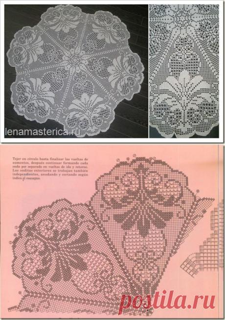 круглая скатерть крючком - Самое интересное в блогах