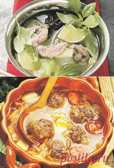 Первое подавать?  Куриный бульон с имбирем и лаймом, луковый суп-пюре, капустняк с фрикадельками, острый тыквенный  суп, армянский суп с форелью