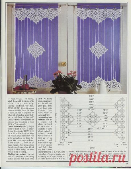 Очень привлекательные занавески на двери и окна, со схемами и внимание-филейное вязание. | pro100stil | Яндекс Дзен