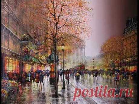 Под небом Парижа.... (аккордеон) - YouTube