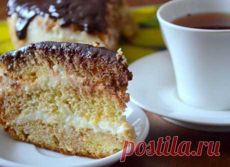 Сказочно вкусный творожно-лимонный торт с шоколадной глазурью Читать далее...