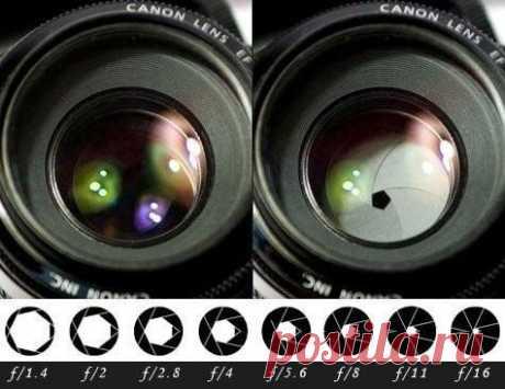 📷Шпаргалки для фотографов