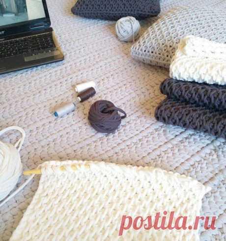 В копилку любителей вязания. Интересный узор для пледов и подушек.