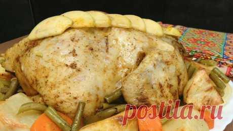 Мой любимый вариант приготовления курицы целиком с гарниром. Всегда выручает, делюсь рецептом с видео | Сам поешь и жену удиви. | Яндекс Дзен