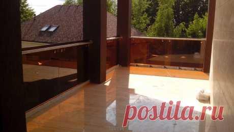 Лестницы, ограждения, перила из стекла, дерева, металла Маршаг – Ограждение веранды стеклянное