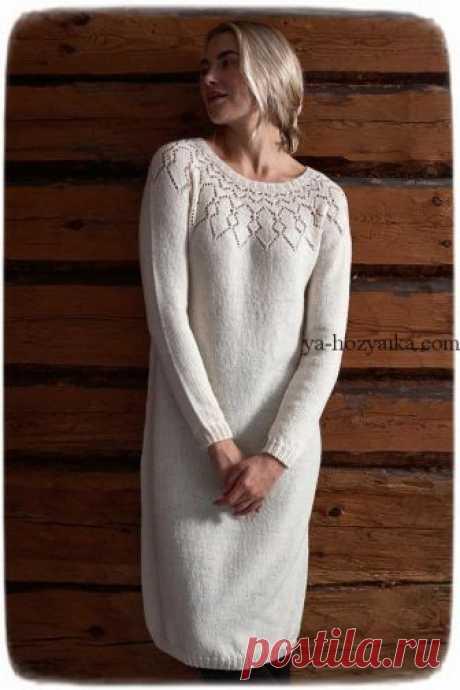 Платье спицами дизайнерская модель со схемами. Нарядное женское платье с красивой кокеткой Платье спицами от Lea Petäjä. Нарядное женское платье с красивой кокеткой. Схема кокетки для платья