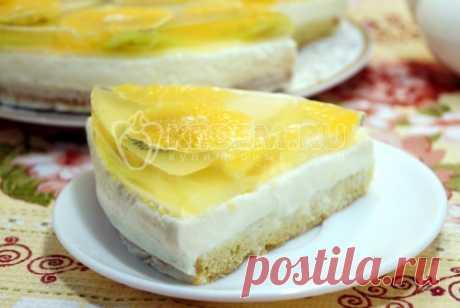 Чизкейк сфруктами Нежный бисквит, тающий творожный крем и заливные фрукты такой десерт в любое время года